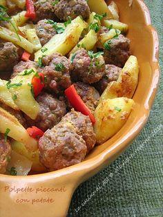 POLPETTE PICCANTI CON PATATE Ricetta secondo piatto di carne