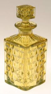 Canary Yellow Fostoria American Perfume Bottle