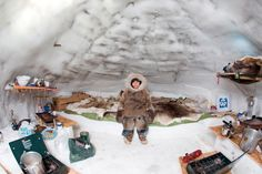 Inuit child in an Arctic igloo, Gjohaven, Canada Photograph by Ton Koene We Are The World, People Of The World, Inuit People, Tribal Face, Folk Clothing, Pretty Photos, Photojournalism, Anthropology, Holidays And Events