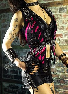 Pink & Black Zebra Print Waistcoat - My Little Halo http://mylittlehalo.com/metal-clothing-collection