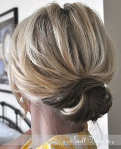 romantic updos For Medium Hair | ... Prom / Pinterest 2014 Cute Easy Updo Bun for Medium Hair / Pinterest