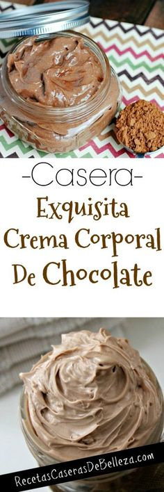 Crema Corporal Casera de Chocolate - Nail Tutorial and Ideas Decadent Chocolate, Homemade Chocolate, Chocolate Butter, Lotion Bars Diy, Diy Beauty Projects, Homemade Body Butter, Desserts With Biscuits, Roast Turkey Breast, Sugar Scrub Diy