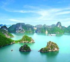 Halong Bay, Vietnam.  Beautiful