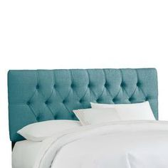 """Diamond-tufted headboard with laguna upholstery and pine wood frame. Handmade in the USA.     Product: Headboard   Construction Material: Solid pine, metal and polyurethane foam    Color: Linen laguna   Features: Diamond button-tuftingPlush cushioningMade in the USA    Dimensions:   Twin: 51"""" H x 41"""" W x 4"""" D    Full: 51"""" H x 56"""" W x 4"""" D   Queen: 51"""" H x 62"""" W x 4"""" D   King: 51"""" H x 78"""" W x 4"""" D   California King: 51"""" H x 74"""" W x 4"""" D           Note: Product is for headboard only Cleaning…"""