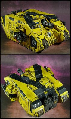 The Internet's largest gallery of painted miniatures, with a large repository of how-to articles on miniature painting Warhammer Figures, Warhammer 40k Miniatures, Warhammer Fantasy, Military Tank, Imperial Fist, Fantasy Battle, Space Wolves, War Hammer, Tank Design