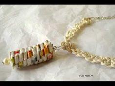 Origami Jewelry Necklaces | Origami Bijou Collares | L'Coq Paper Art