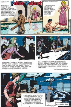 Prince Valiant. What a trip! This is from 2015. I haven't seen an episode of Prince Val since January 2004, when our newspaper stopped running it. The story carried on, for lucky readers in other cities! (I remember when Nathan was born, and when Karen and Valeta were bratty tweens!)