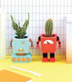 Achetez le pot de fleur 'PlanterBot'  sur lavantgardiste.