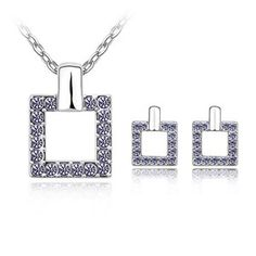 Austrian Crystal Set - Makeup ( Tanzanite ) 6109