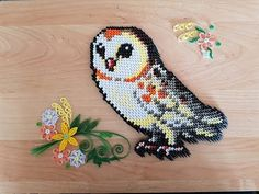 Chouette, owl origami 3d - YouTube Origami 3d, Origami And Quilling, Modular Origami, Quilling Flowers, Paper Quilling, Hama Beads Minecraft, Minecraft Pixel Art, Perler Beads, Minecraft Skins