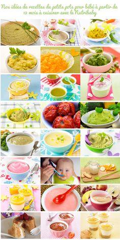 Recettes de petits pots pour bébé de 12 mois à cuisiner avec le Nutribaby de Babymoov