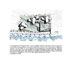 © Heesoo Kwak and IDMM Architects - Situation plan hand drawing with text