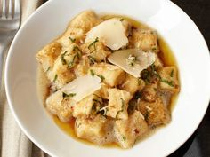 Gnocchi With Brown Butter and Sage recipe from Food Network Magazine via Food Network