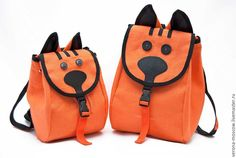 Купить Рюкзачок детский Рыжик - рыжий, рюкзак детский, кот, оранжевый, подарок, рюкзачок