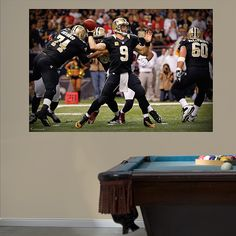 Saints Super Bowl XLIV Mural Fathead Wall Graphic | New Orleans ...