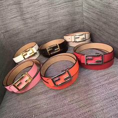 Fendi woman leather belt