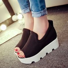 Cute Trendy Love Wedge-sandal Wedge Sandals from fashionmia.com