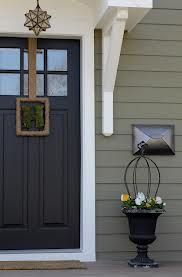 crownsville gray paint color - front door color.