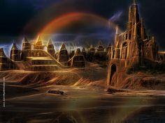 Castillos En La Noche Photoshop, Wilderness, Castles, Night
