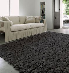 Contemporary motif rug in wool SPIN  PAOLA LENTI
