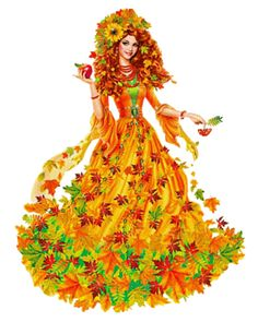 Image du Blog lepassetempsderose.centerblog.net Art For Kids, Crafts For Kids, Victorian Crafts, Fall Clip Art, Autumn Fairy, Fantasy Mermaids, Ukrainian Art, Fantasy Paintings, School Decorations