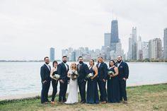 Tattoos, Smoke Bombs & Pups: Trash The Dress Wedding in Chicago