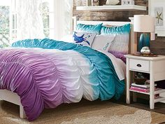 I love the PBteen Chatham Dip Dye Ruched Bedroom on pbteen.com