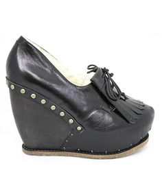 Take a look at this Black Shinanigans Wedge by Irregular Choice on #zulily today!