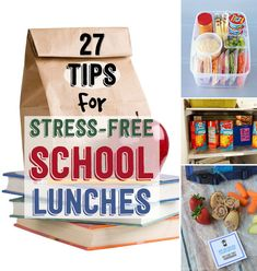 27 School Lunch Tips That Will Keep You Sane The ads on this page are a little questionable...sorry.