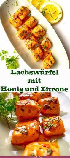 Das Aroma ist einfach wahnsinnig! Der Lachs mit dem Honig und der Zitrone ergänzen sich auf eine unglaubliche Art und Weise. So kann der Lachs als Apero Häppchen oder als Spiesschen zubereitet werden. So habt ihr eine neue Variante für auf den Grill oder den Backofen.