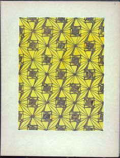 Colored decorative design From New York Public Library Digital Collections.