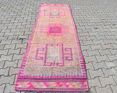 Turkish rug Oushak rug Vintage rug Turkey rug by turkishrugstar Rustic Rugs, Rustic Decor, Natural Rug, Pink Rug, Bohemian Decor, Tribal Rug, Rugs In Living Room, Handmade Rugs, Rug Runner