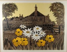 Robert Tavener R.E., Cottages and Garden - Sussex