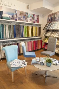 Designers Guild showroom on Kings road. We have a vast range of fabric plains to choose from as well as our iconic prints