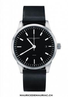 The classy L1 watch from Swiss Watchmakers Maurice de Mauriac. Design by Fabian Schwaerzler http://mauricedemauriac.ch/ watches for men