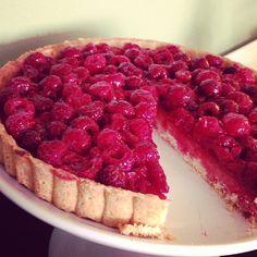 Delicious raspberry tart! #yum