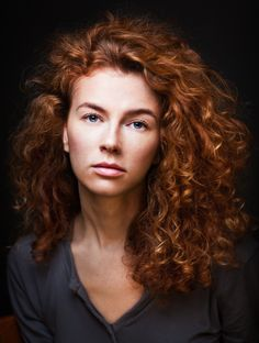 Curly red-head Ann by Zachar Rise Curly Ginger Hair, Short Curly Hair, Curly Girl, Beautiful Red Hair, Beautiful Redhead, Red Heads Women, Red Hair Woman, Natural Hair Styles, Long Hair Styles