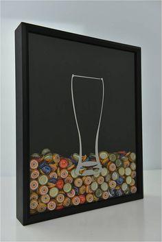 Beer Cap Collector Shadow Box by CraftBeerHound on Etsy