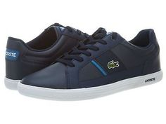 Lacoste Europa Nal Mens 7-28SPM0052-2D6 Dark Blue Casual Shoes Sneakers Size 7