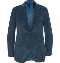 Richard James Teal Seishin Slim-Fit Cotton Blazer | MR PORTER