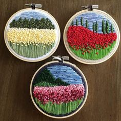 Ribbon Embroidery Flowers by Hand - Embroidery Patterns Embroidery Materials, Hand Embroidery Patterns, Embroidery Kits, Machine Embroidery, Embroidery Designs, Crochet Patterns, Geometric Embroidery, Hardanger Embroidery, Silk Ribbon Embroidery