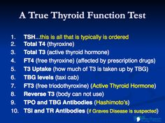 See only TSH test is what doctors test. There are so much other testing they don't do. That's why we still feel bad                                                                                                                                                      More