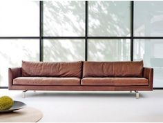 Gijs Papavoine Axel Sofa - Is the ideal sofa for any living room. The legs under the delicately cut cubist surrounds are almost hidden from view, as a result of which the couch seems to have no connection with the floor. Design Furniture, Sofa Design, Cool Furniture, Modern Furniture, Interior Design, Chaise Lounges, Lounge Sofa, Contemporary Sofa, Living Room