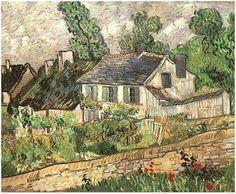 Houses in Auvers Vincent van Gogh Painting, Oil on Canvas Auvers-sur-Oise: June, 1890 #vincent #vangogh #auvers