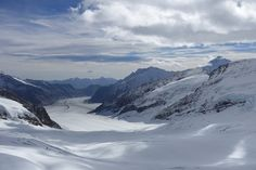 Landscape seen from the Jungfrau summit