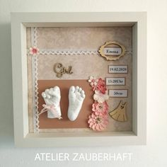 Footprint, 3d, Baby, Crafts, Home Decor, Atelier, Crafting, Manualidades, Decoration Home