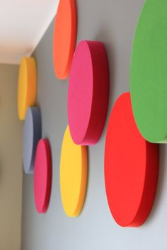 Fluffo SOFT panels are produced from flexible, dense polyurethane foam👌 This is a modern material, neutral to us users and resistant to ageing 🏋 These panels are soft and irresistibly spongy 🐇 Classroom Wall Decor, Classroom Walls, Foam Panels, 3d Panels, Geometric Wall Art, Colorful Wall Art, Colegio Ideas, Marvel Paintings, Acoustic Wall Panels