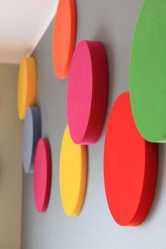 Kolekcja Fluffo DOTS. Miękkie panele ścienne 3D Fluffo. Fluffo, Fabryka Miękkich Ścian. Projekt by: osoba prywatna.