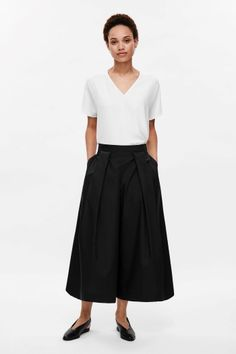 Pleated wide-leg trousers, via COS