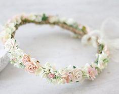 Damen Strand Blumengirlande Kronen Kopfband Blumenmuster Kranz Hochzeit Haarband